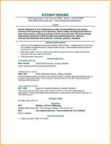 1st resume template 14 cv template student basic appication
