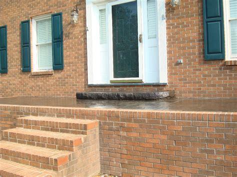 brick front veranda schritte atlantic coast concrete slate grey sted brick front
