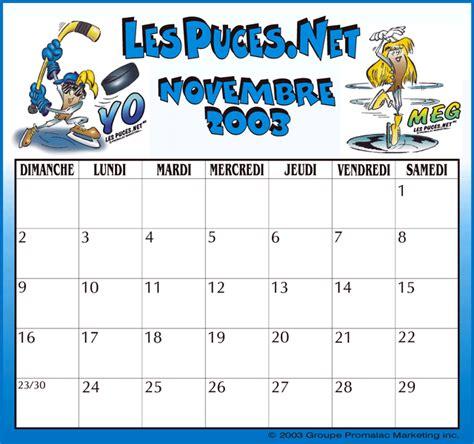 Calendrier Novembre 2001 Calendrier Novembre 2006 Imprimez Votre Calendrier Du Mois
