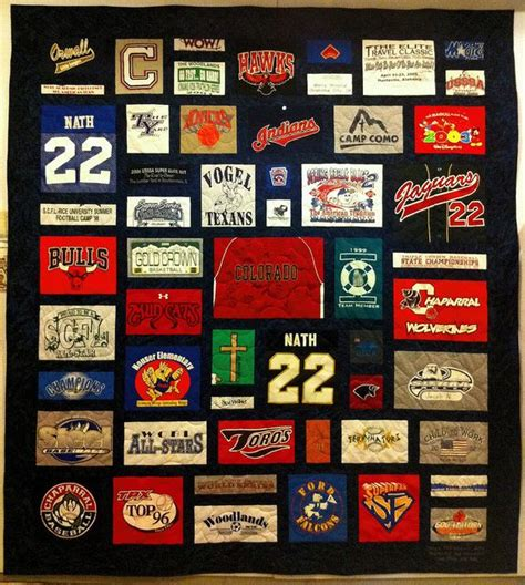 T Shirt Patchwork Quilt - t shirt quilt logo family memories patchwork memories