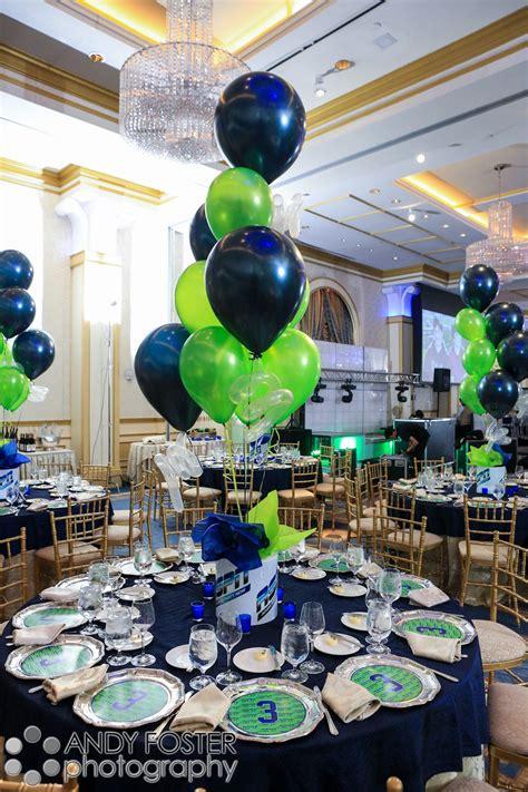 bar mitzvah balloon theme centerpiece in the ballroom