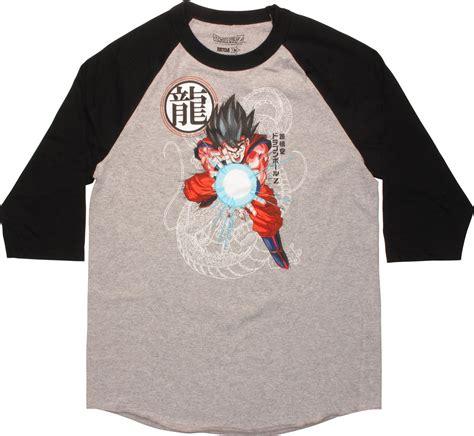 T Shirt Raglan Suzuki Anime z goku kamehameha raglan t shirt