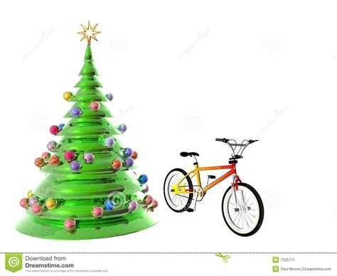 bicycle art christmas tree tree bicycle stock illustration image of holidays 7325711
