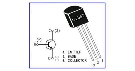 transistor bc557 pin diagram bc547 npn transistor