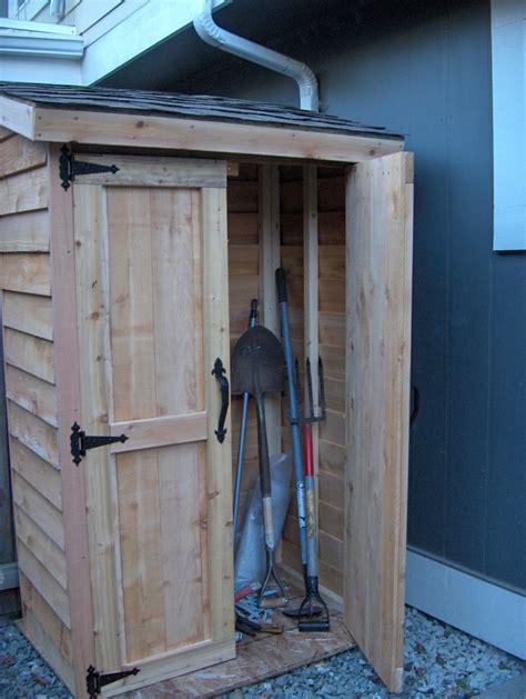 ana white mini cedar storage shed diy projects