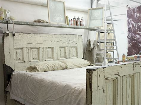 diy old door headboard items similar to queen sized reclaimed wooden door bed