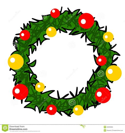 funny animated christmas wreaths wreath stock illustration illustration of 26909985