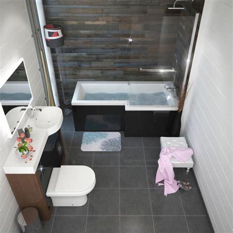buy shower bath patello grey l shaped shower bath right buy at