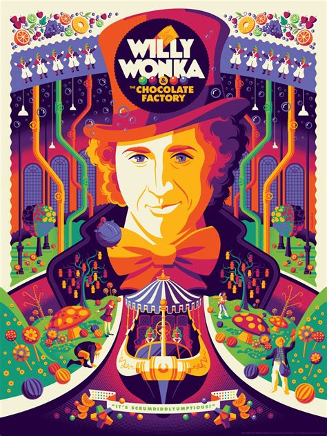 Willy Wonka The Chocolate Factory inside the rock poster frame tom whalen willy wonka
