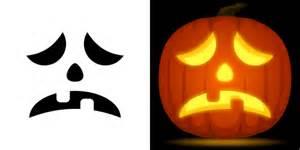sad template free sad pumpkin stencil