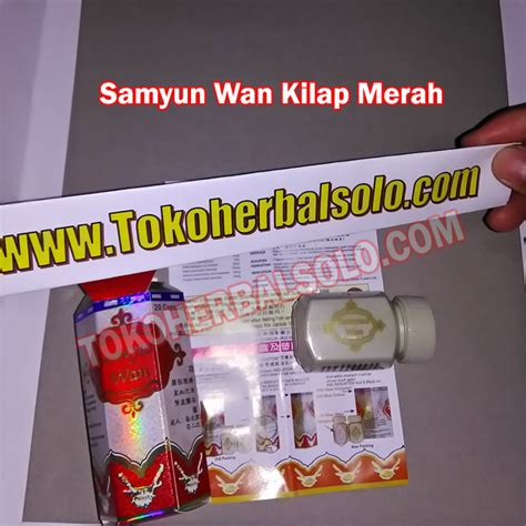 Obat Gemuk Herbal Samyun Wan gemuk badan samyun wan kilap merah toko herbal