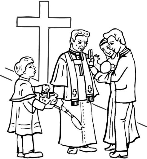 christian church coloring pages christening free colouring pages