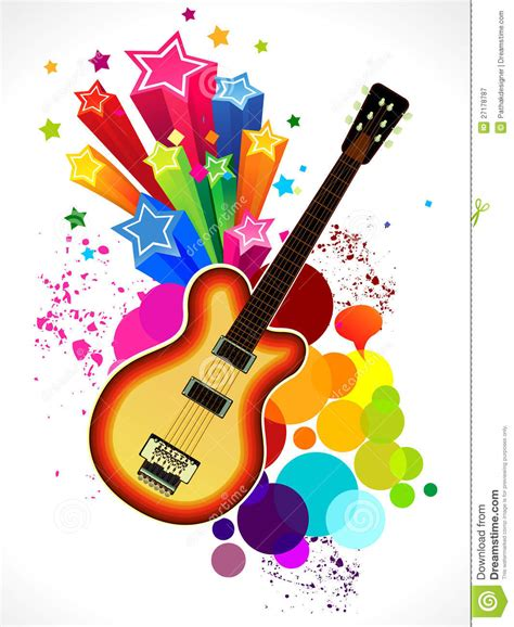 colorful guitar wallpaper abstract colorful guitar background stock vector image