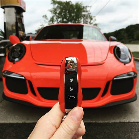 lava orange porsche stripeless lava orange porsche 911 r is dangerously close