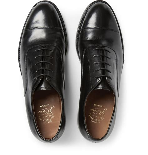 j crew oxford shoes j crew ludlow cap toe oxford shoes in black for lyst