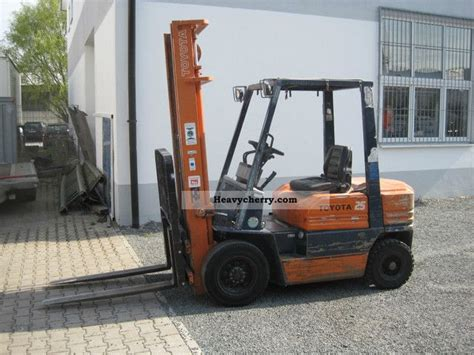 toyota 25 forklift specifications toyota 5 fd 25 2012 front mounted forklift truck photo and