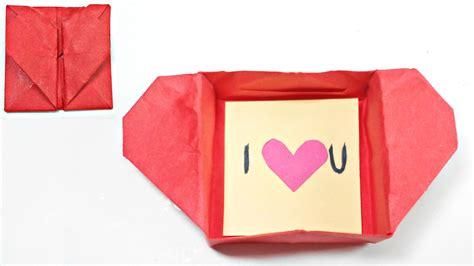 Origami Secret Box - origami box envelope secret message