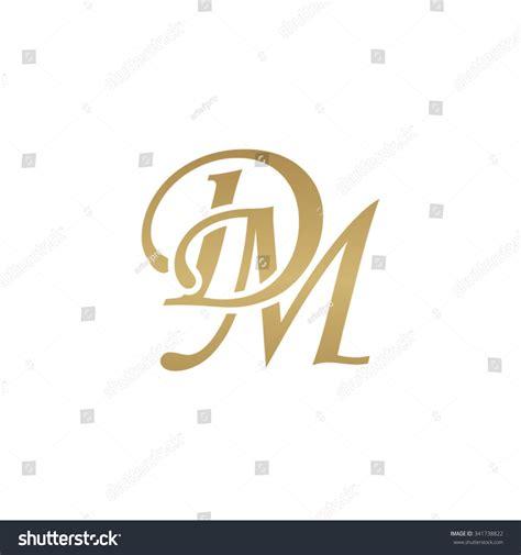 d m dm initial monogram logo stock vector illustration