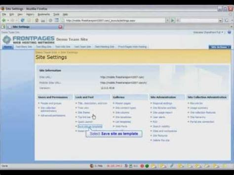 sharepoint 2007 site templates sharepoint 2007 tutorial how to create a sharepoint site