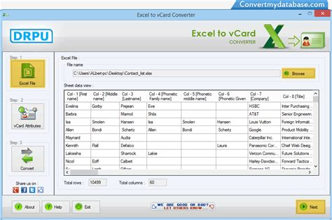 format vcard excel excel to vcard converter software convert contact list
