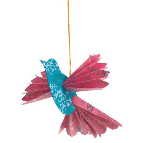 Handmade Bird Ornaments - handmade paper bird ornaments