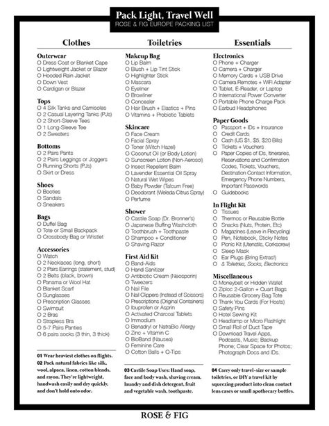 packing checklist best 25 packing lists ideas on summer