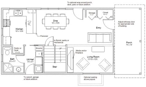 2 story cabin floor plans 20 wide easy to customize home cottage or cabin plans