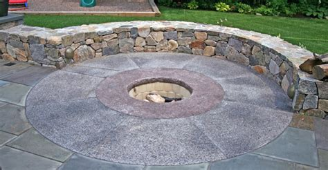 backyard stone fire pit fire pits stone concrete fire pit designs and ideas the concrete network
