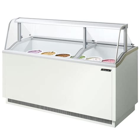 ice cream freezer dipping cabinet turbo air tidc 70w 70 quot low curved glass ice cream dipping