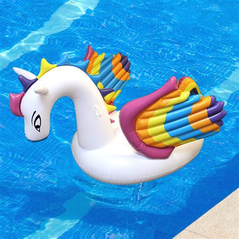 toysplash inflatable rainbow pegasus float