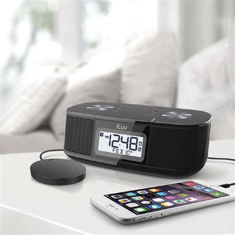 Alarm Clock Pillow Shaker by Iluv Black Pillow Shaker Digital Fm Alarm Clock
