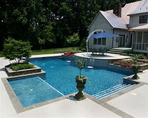 lap pool backyard google search lap pools pinterest fiberglass pool with tanning ledge google search