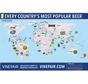 MAP The Most Popular Beer In Every Country  VinePair
