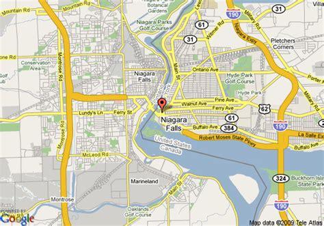america map niagara falls howard johnson hotel niagara falls niagara falls deals