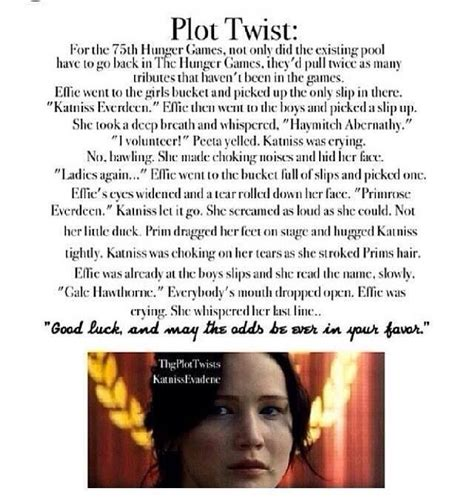 the hunger plot twist by for my thought on the hunger plot twist thg i am