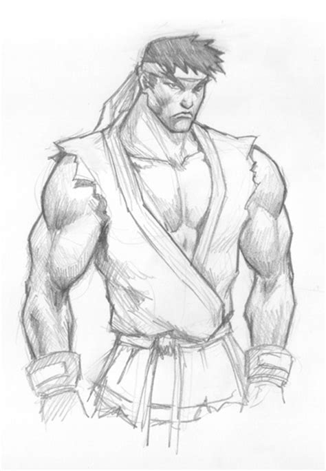 Fighter V Sketches by How To Draw Ryu From Fighter
