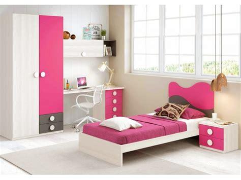 chambre fille compl鑼e chambre fille de couleur peps avec lit 1 personne