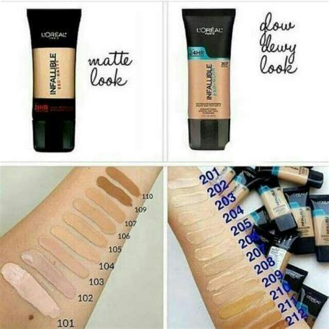 Harga L Oreal Infallible Matte Foundation loreal infallible pro glow foundation 207 sand beige