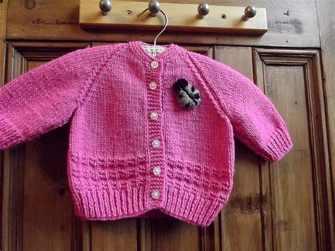 Handmade Knitted Baby Clothes - baby clothing handmade knitted cardigan birth to 3 months