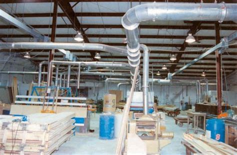 dust collection ducting for woodworking effective controls inc woodworking dust collection