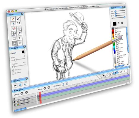draw program free animation and pencil free 2d animation software