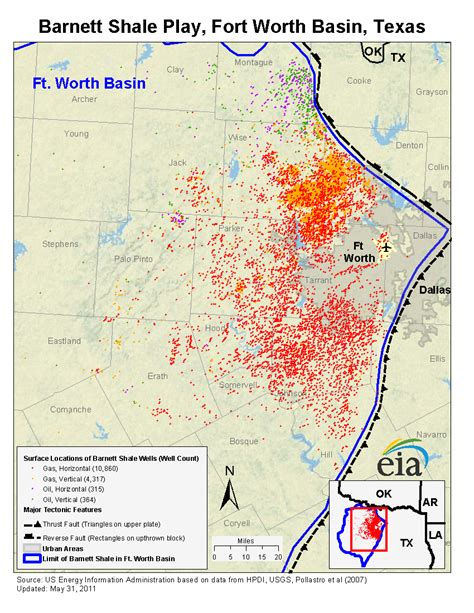 texas shale map barnett shale