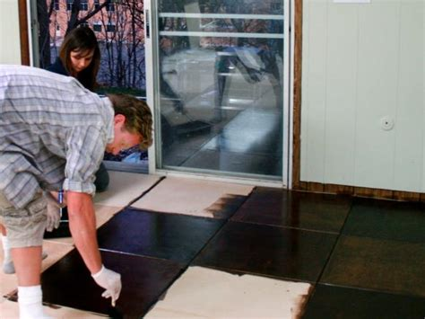 Installing Plywood Flooring by How To Install Plywood Floor Tiles Hgtv