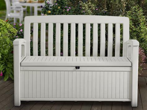 banc jardin blanc chalet jardin boutique coffre banc en rsine blanc 227l