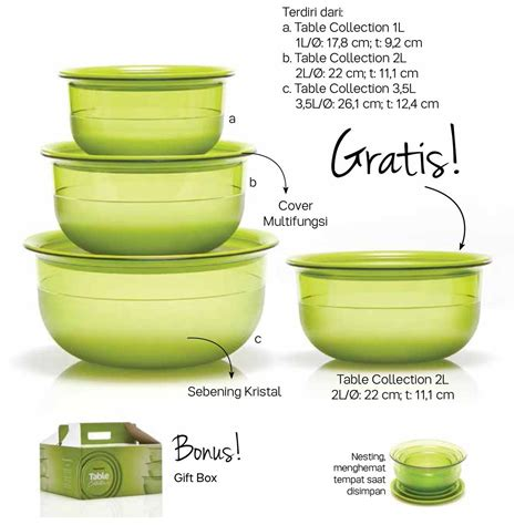 table collection tupperware katalog promo tupperware