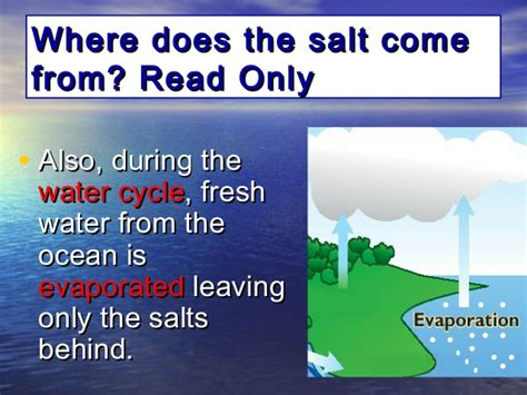 where does table salt come from 1 10 composition location water in earth s processes