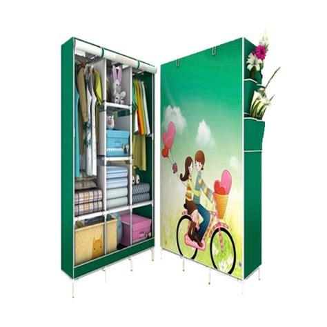 Lemari Fortable jual risen motif 3d lemari pakaian portable jumper green harga