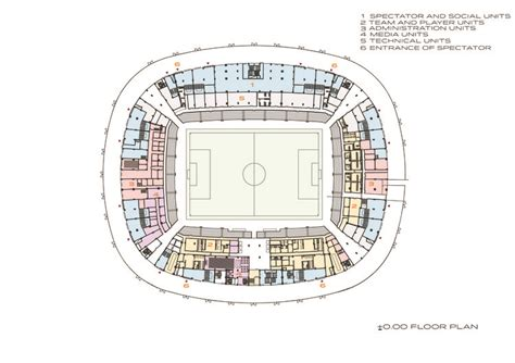 stadium floor plan sivas stadium bahadir kul architects archdaily