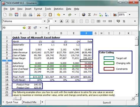 Excel Compatible Spreadsheet Software by Gnumeric A Powerful Free And Largely Excel Compatible
