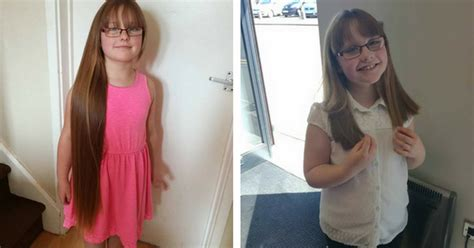 haircut coupons brton caring eight year old gracie mae from stapenhill chops 18
